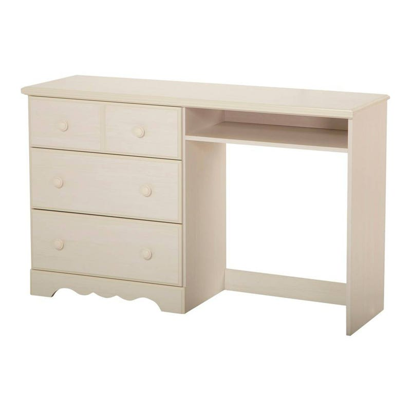 Summer Breeze Desk with 3 Drawers - White Wash