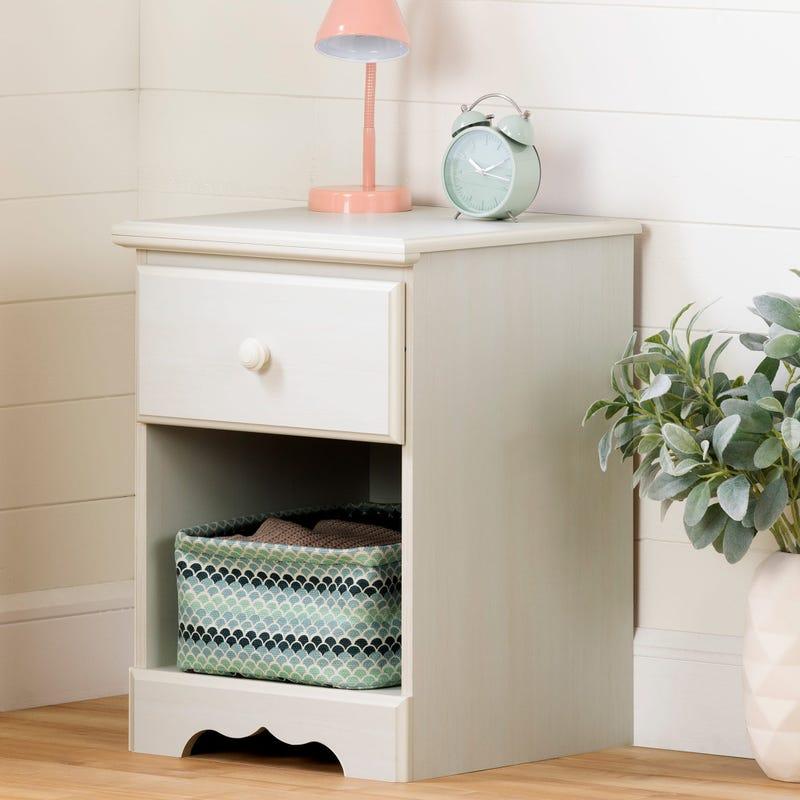 1-Drawer Nightstand - Summer Breeze White Wash
