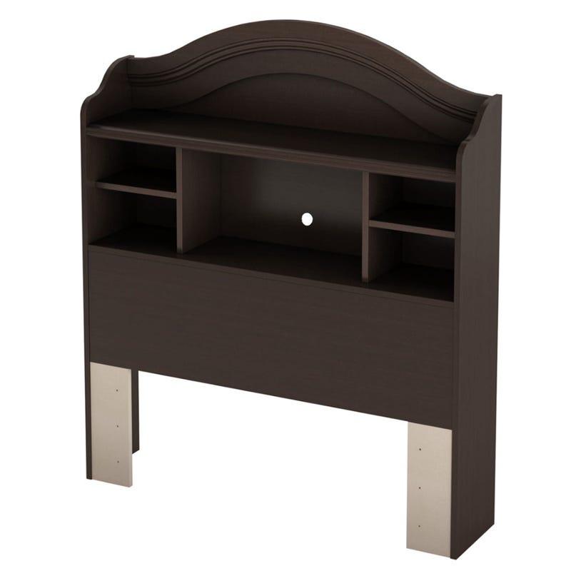 Summer Breeze Twin Bookcase Headboard - Chocolate