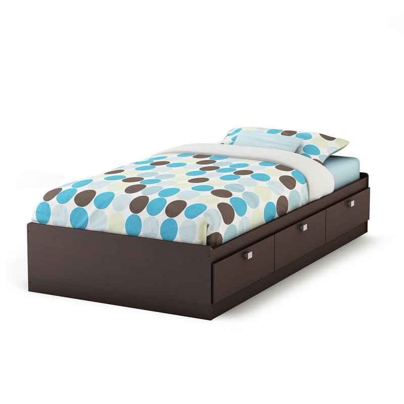 Spark Twin Mates Bed with Drawers - Chocolate