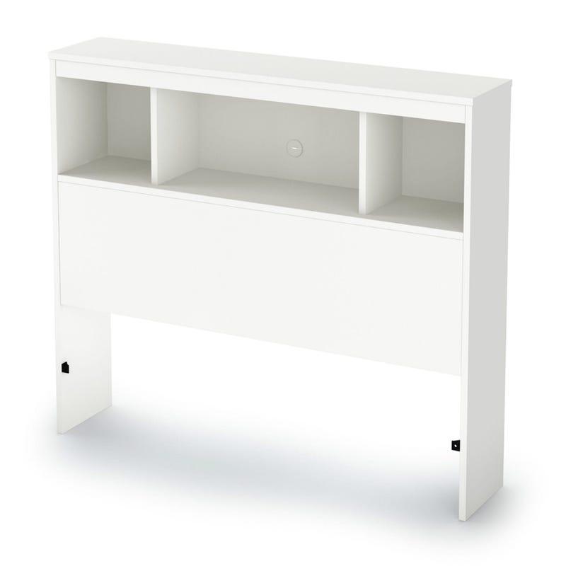 Tête de Lit Simple Bibliothèque Spark - Blanc Solide