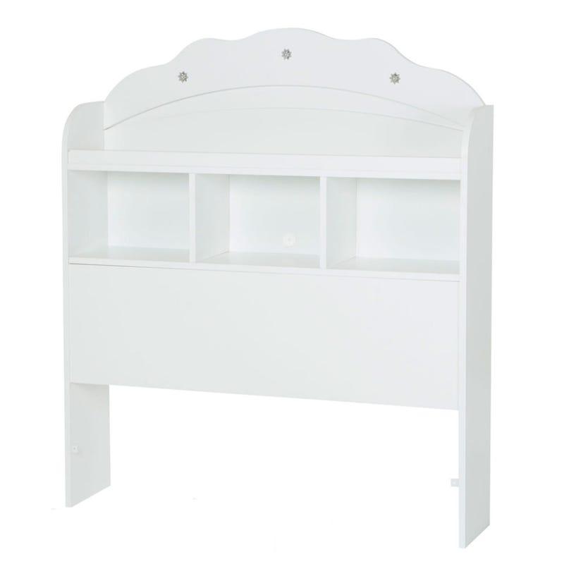 Tête de Lit Simple Bibliothèque Tiara - Blanc Solide