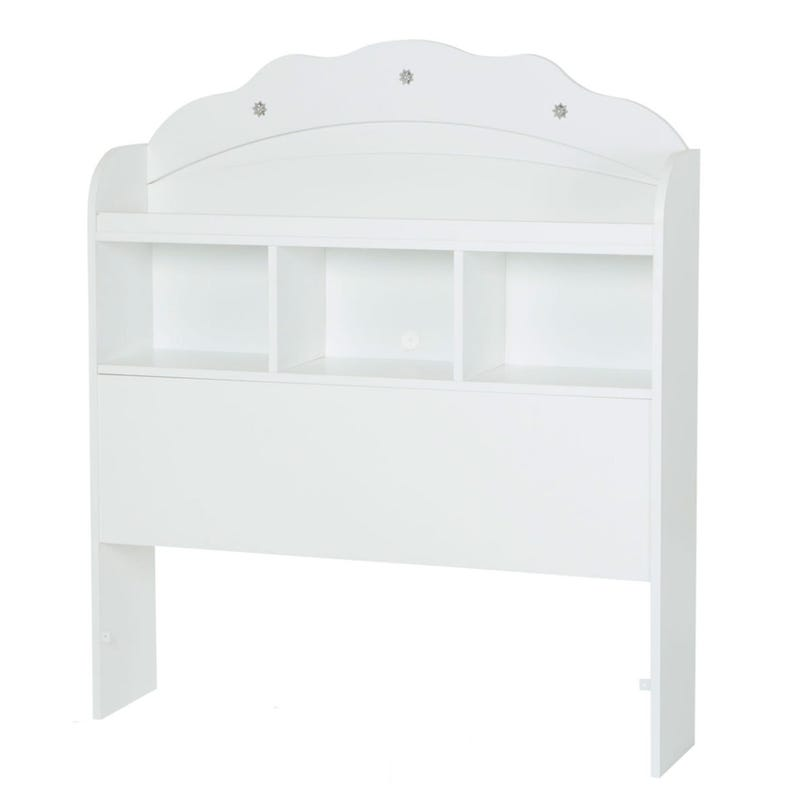 Tiara Twin Bookcase Headboard - Pure White