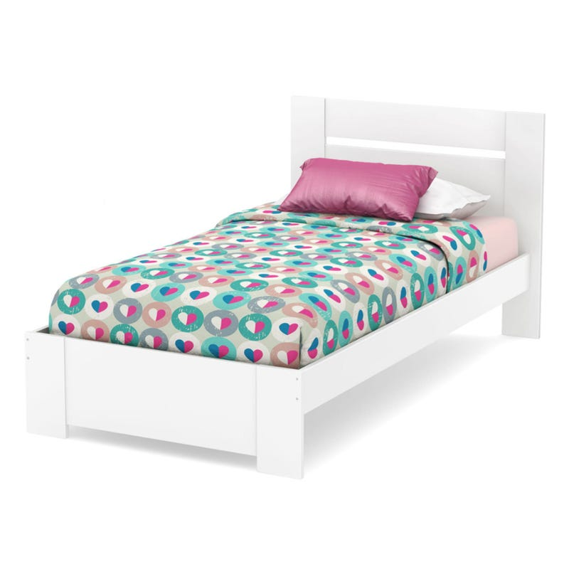 Reevo Twin Bed Set - Pure White