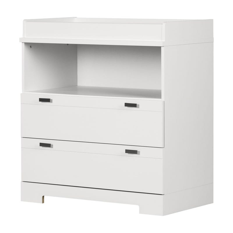 Reevo Changing Table with Storage - Pure White
