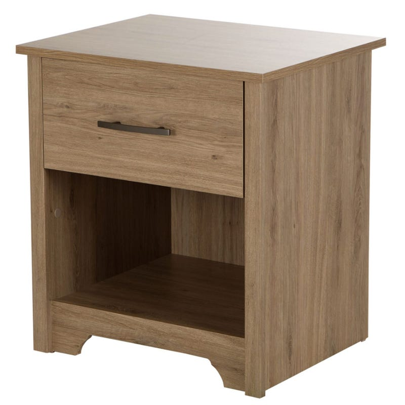 Fusion 1-Drawer Nightstand - Rustic Oak