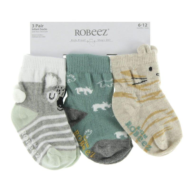 Kaelin 3-Pack Socks 0-24m