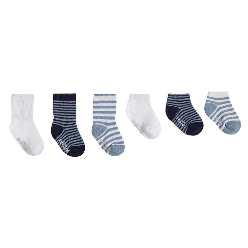6pck Anti Slip Socks 0-24m