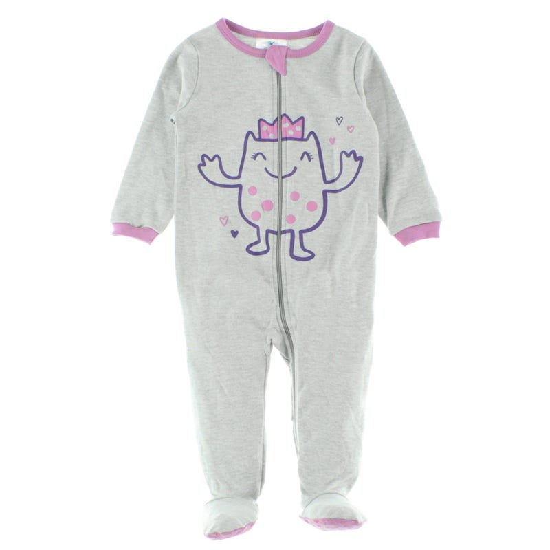 Girl Monster Pajamas 0-24m