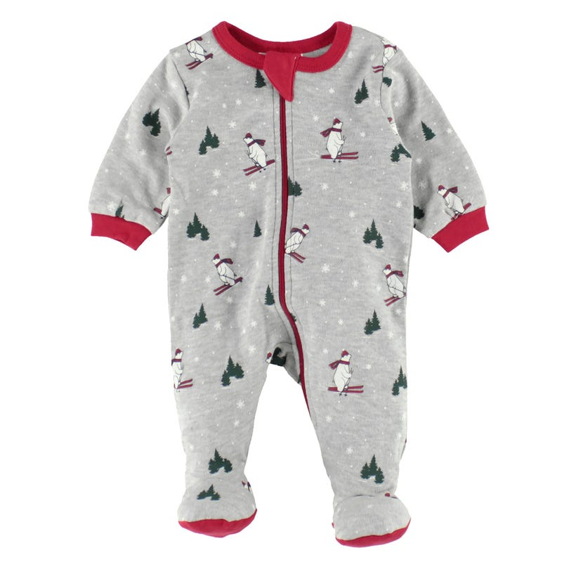 Ski bear pajamas 0-24m
