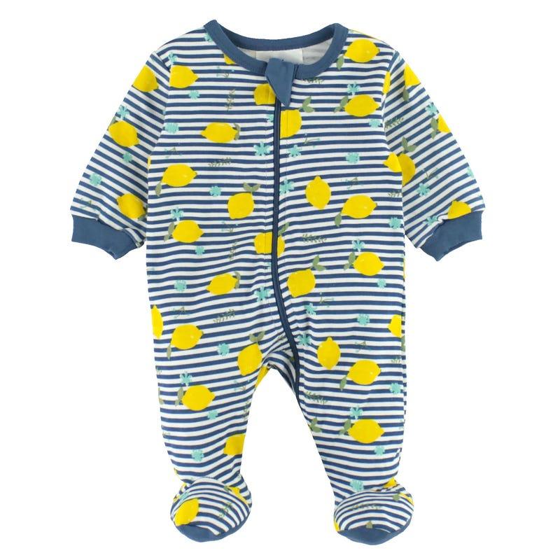 Pyjama Rayé Citrons 0-30m
