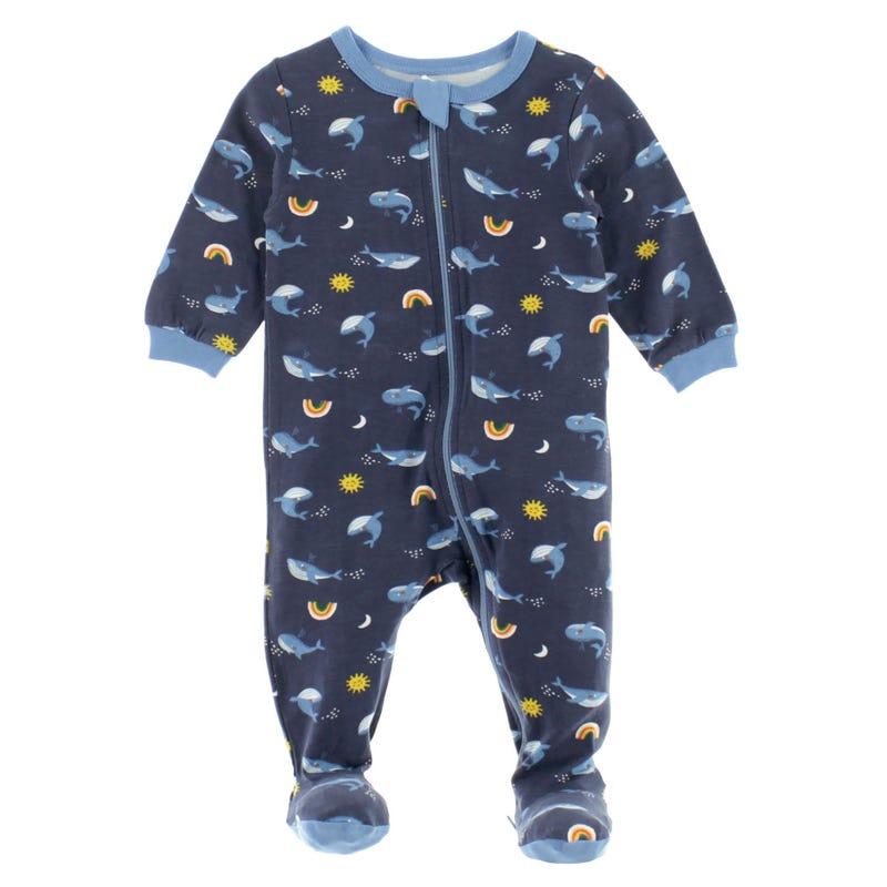 Whales Modal Pajamas 0-30m