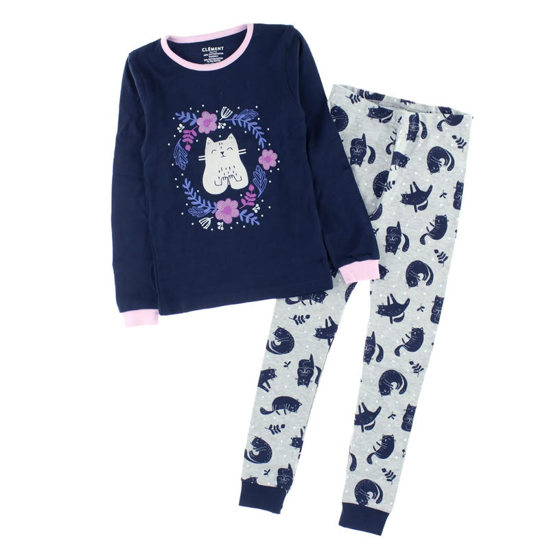 Pyjama Chat Yoga 2-14ans
