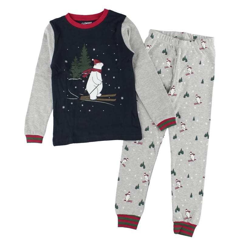 Ski bear pajamas 2-14