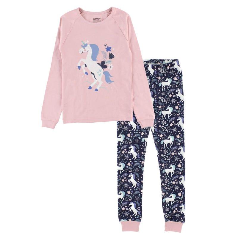 Unicorn Pajamas 2-14y