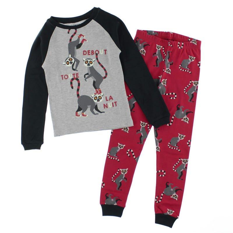 Lemur Pajamas 2-14y