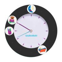 Horloge de Routine - Noir