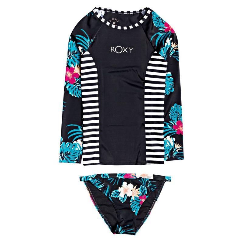 T-shirt maillot 2pcs Roxy 8-12y