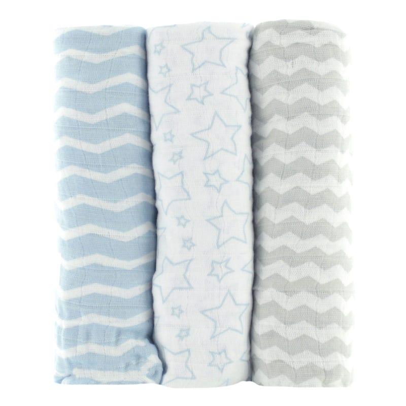 Couvertures (3)Mousseline Bleu