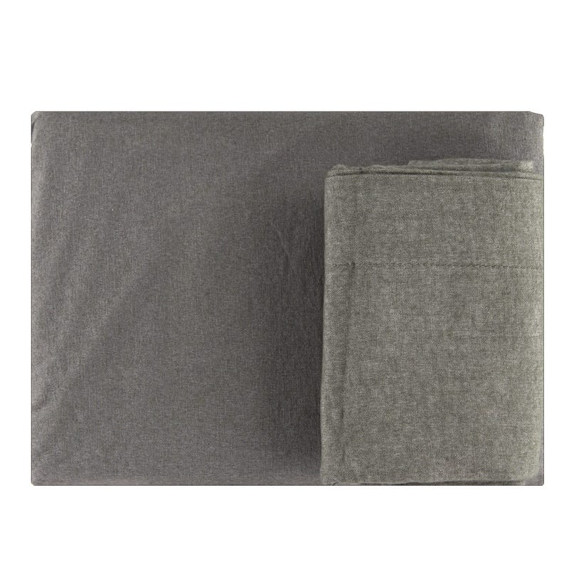 Twin Sheet Set - Flannel Charcoal