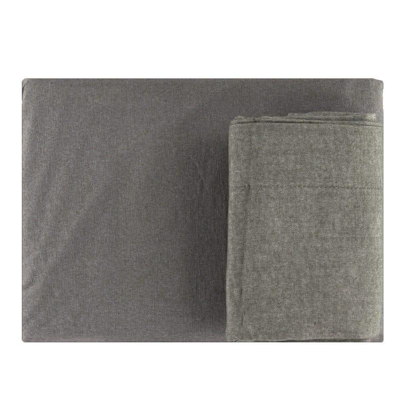Double Sheet Set - Flannel Charbon
