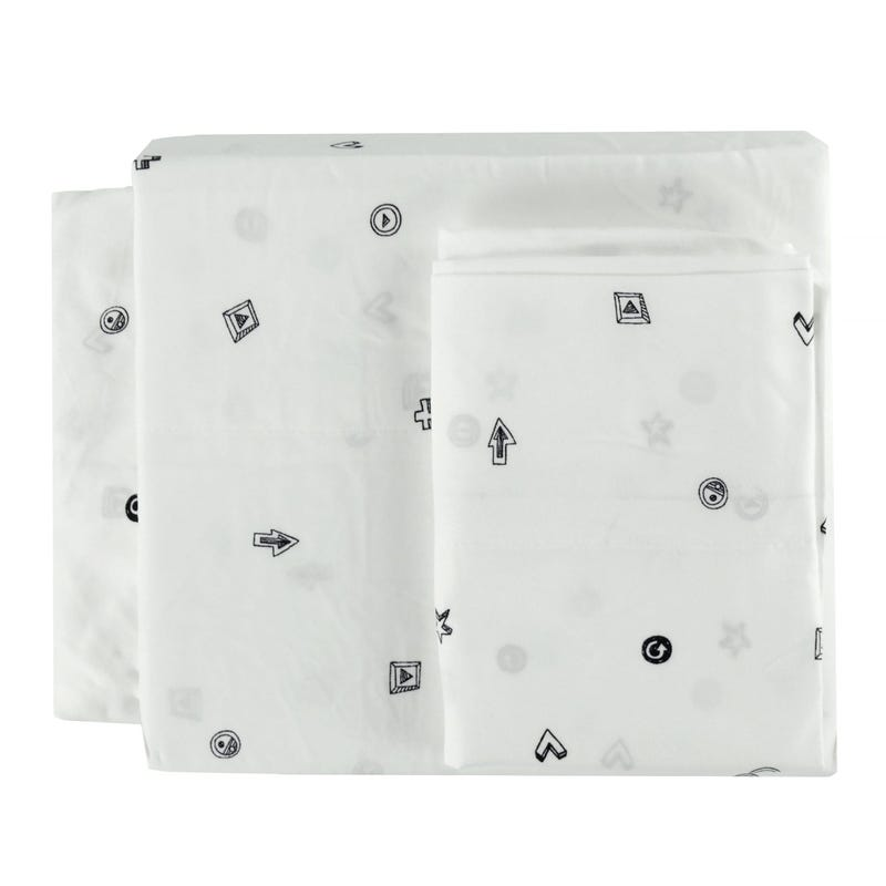 Twin Sheet Set - Black Star