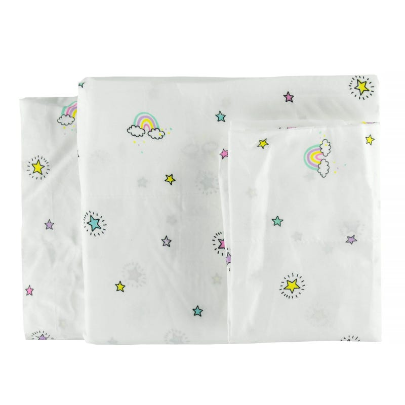 Double Sheet Set - Unicorn Rainbow