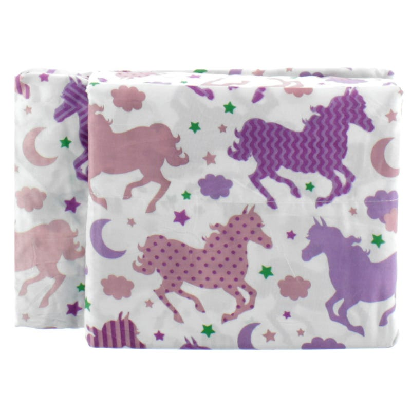 Ensemble Drap Lit Double - Cheval Mauve