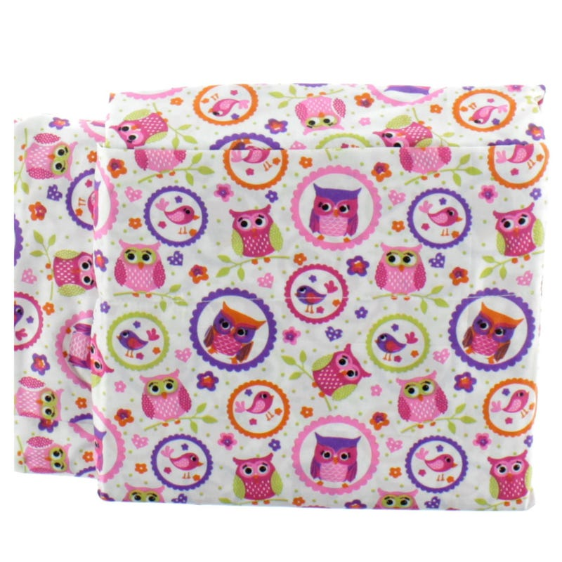 Ensemble Drap Lit Double - Hibou