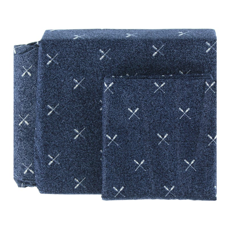 Twin Sheet Set Paddles - Navy