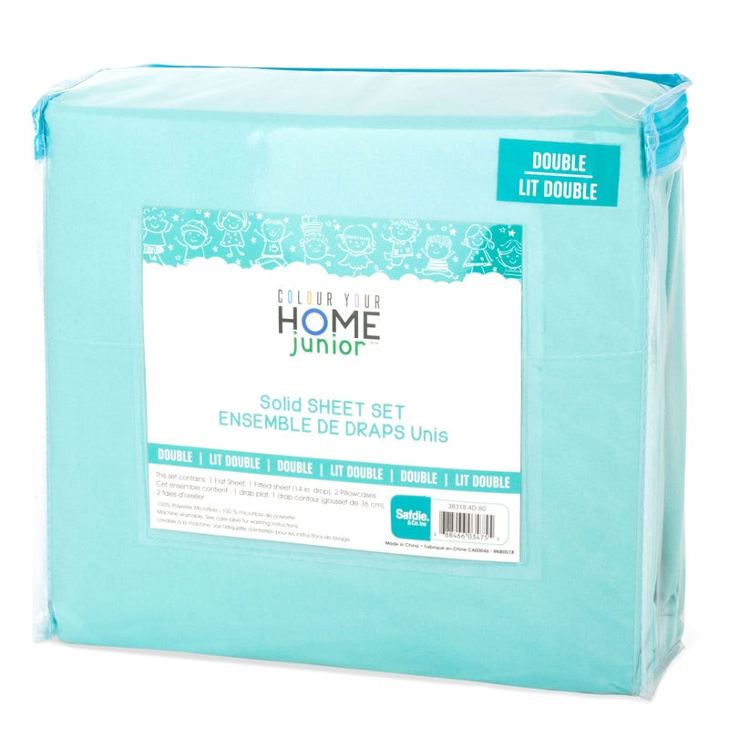 Double Sheet Set - Aqua