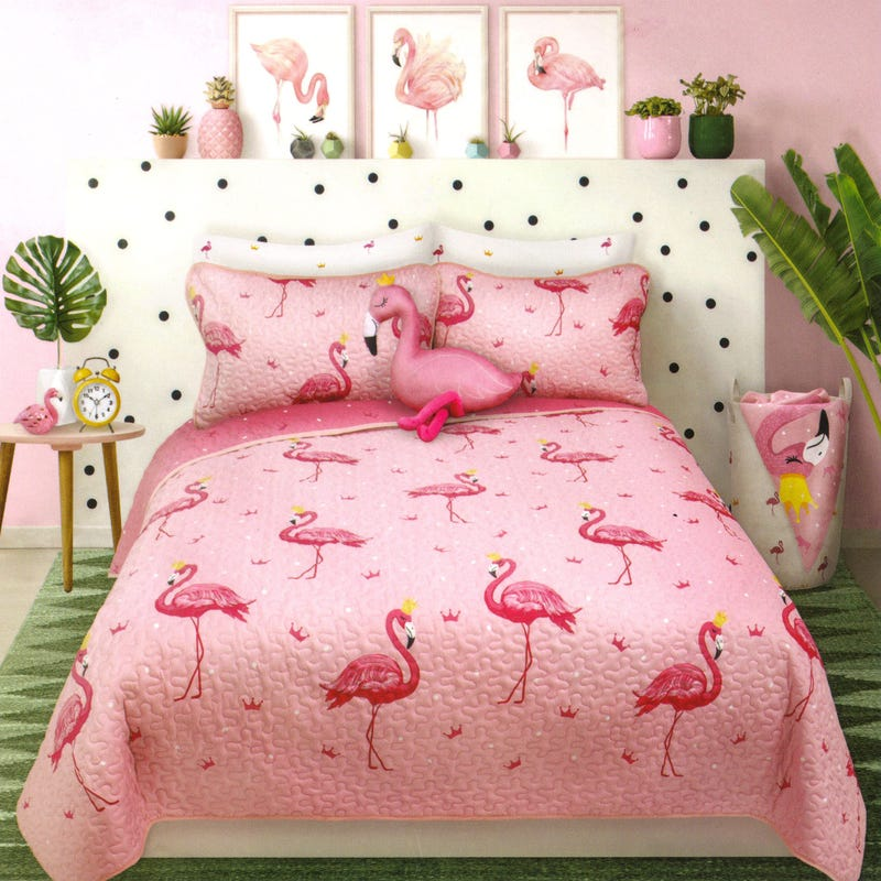 Twin Quilt - Flamingo