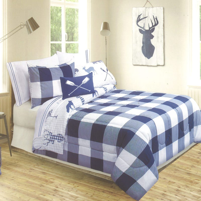 Twin Comforter Reversible - Navy
