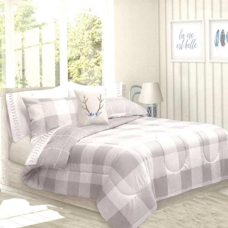 Twin Comforter Reversible - Gray