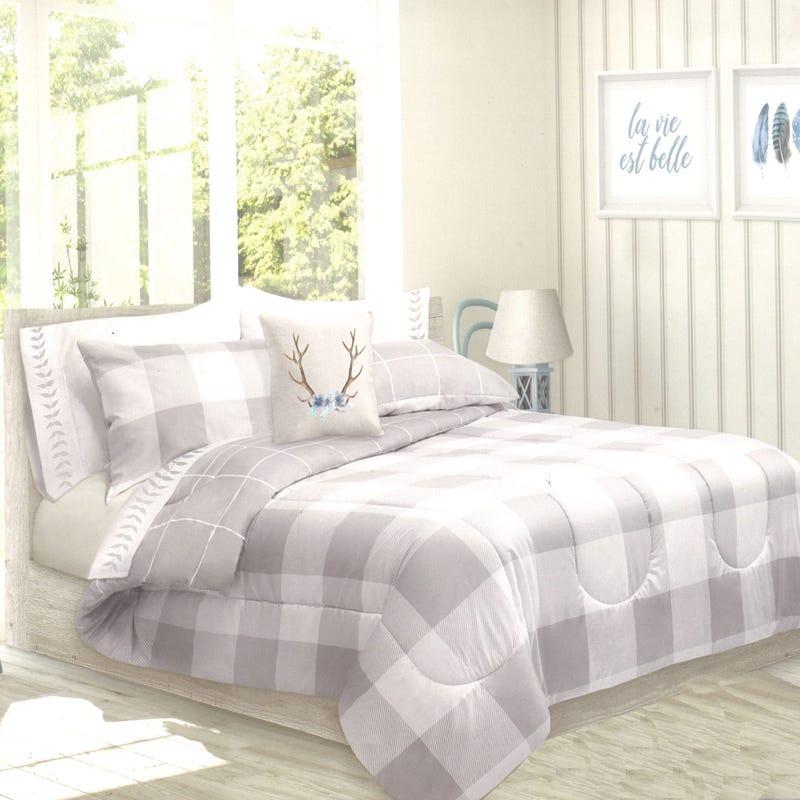 Double Comforter Reversible - Gray