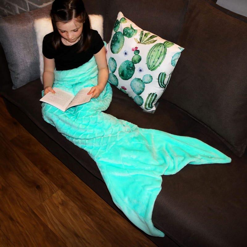 Couverture Sirène Adulte- Turquoise