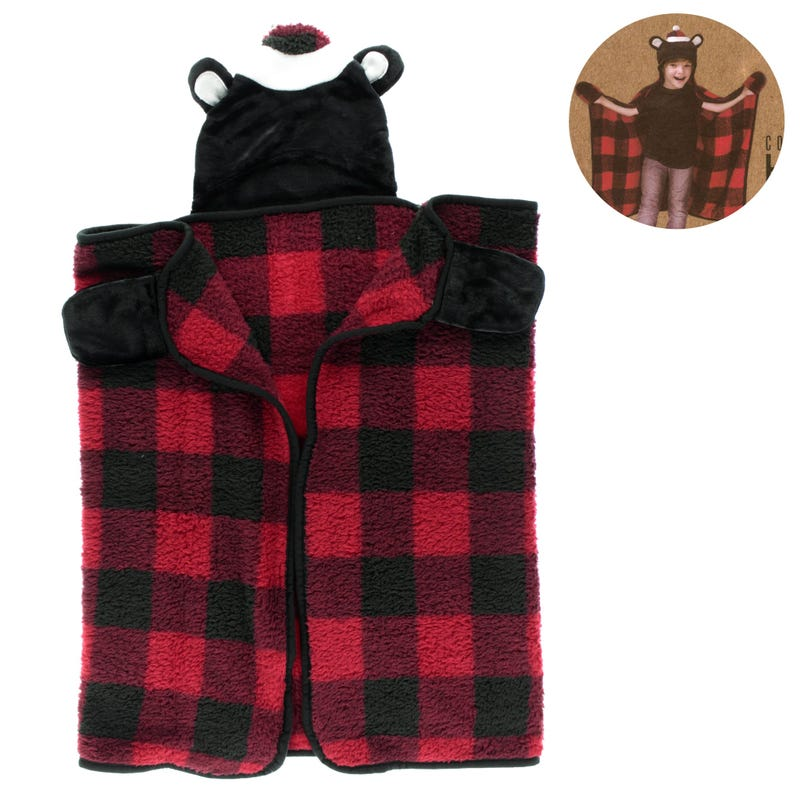Throw Hooded Bear Red