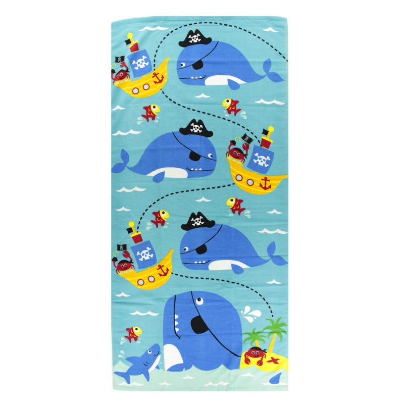 Beach Towel - Pirate Whales