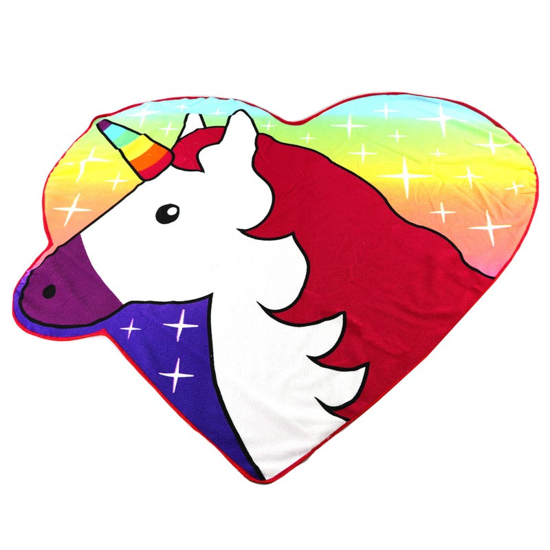 Beach Towel - Heart Unicorn
