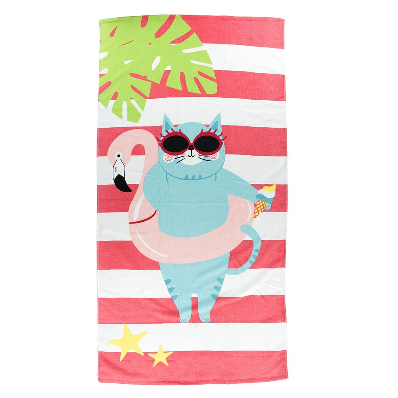 Beach Towel - Beach Cat
