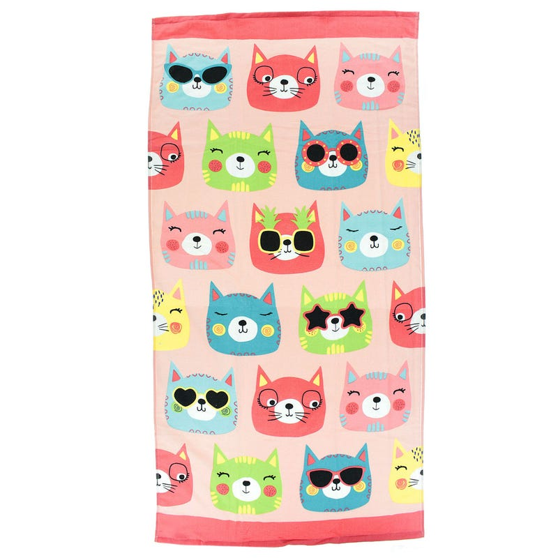 Beach Towel - Cat Faces