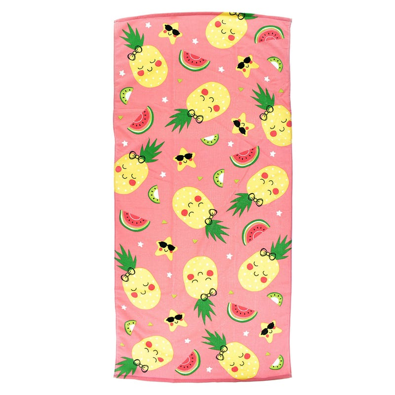 Beach Towel - Pineapple Pink