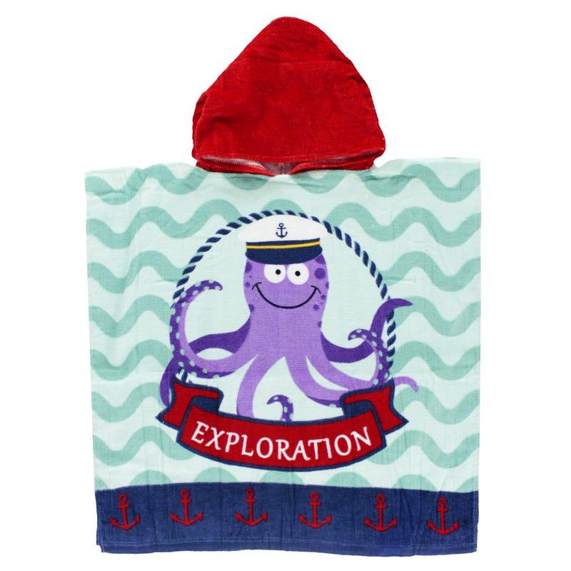 Beach Towel Hooded - Octopus