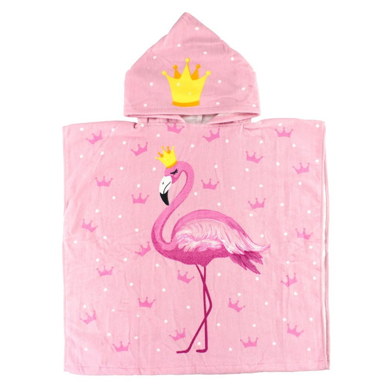 Hooded Towel - Flamingo