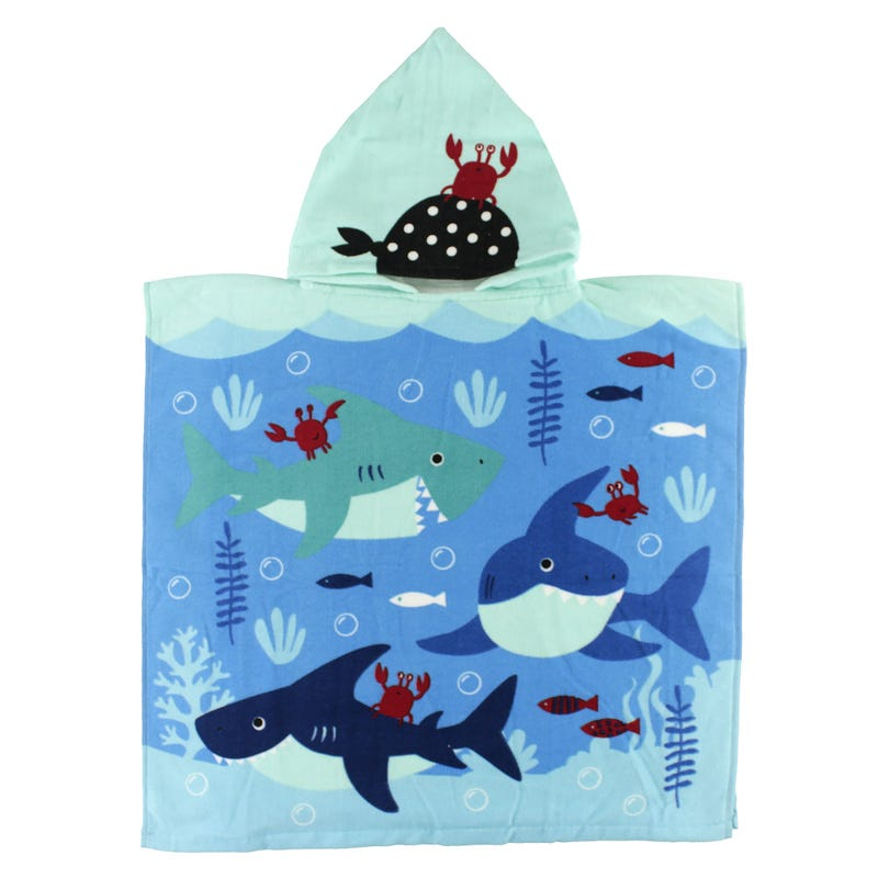 Hooded Towel - Sharks