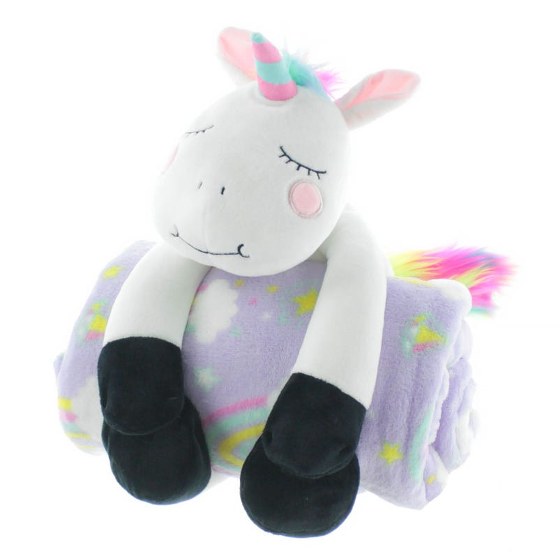 Kit Plush and Blanket - Unicorn