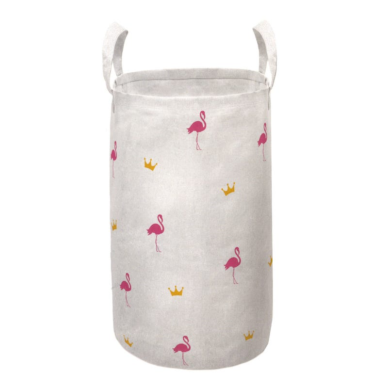 Foldable Laundry Basket - Flamingo