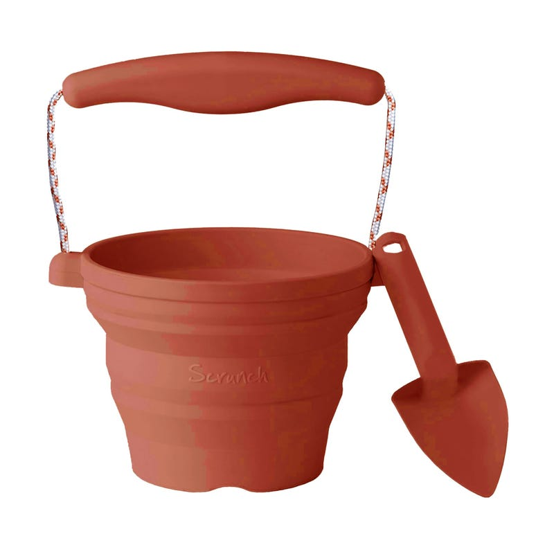 Seedling Pots And Trowel - Rust