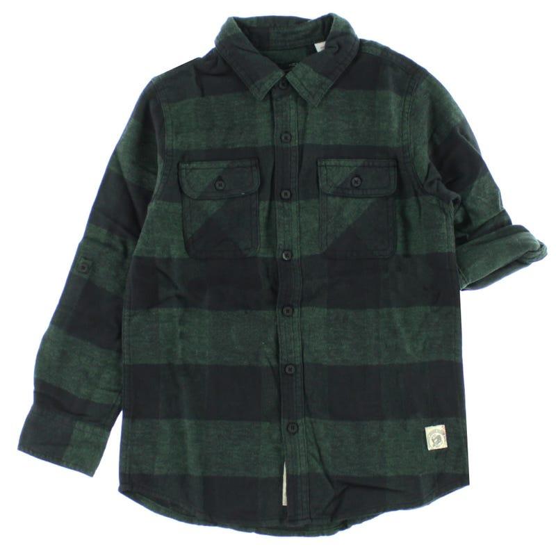 Plaid Long Sleeve Shirt 7-16y