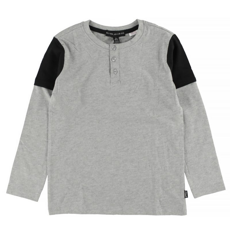T-Shirt à Manches Longues Henley 4-7ans